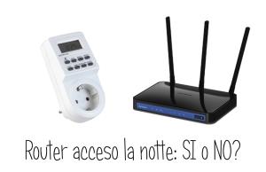 Quanto consuma un router la notte?