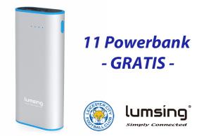 LUMSING leicester powerbank gratis