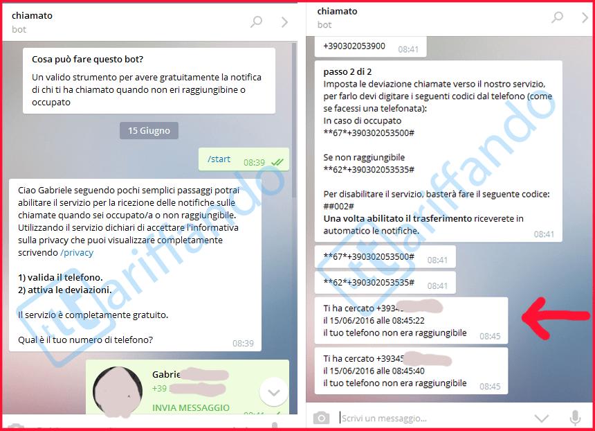 bot telegram chiamato ti ho cercato gratis
