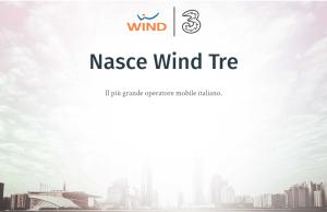 wind tre fusione ufficiale