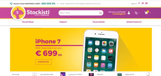 """La ex Home page del sito de """"Gli Stockisti"""""""