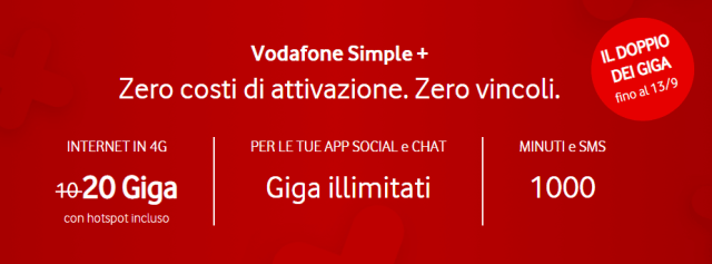 vodafone simple +