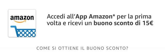 amazon buono 15 euro gratis app