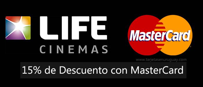 Descuento en Life Cinemas con Tarjetas MasterCard