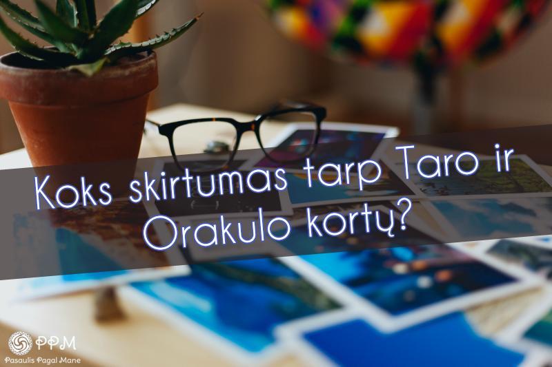 Koks skirtumas tarp Taro ir Orakulo kortų