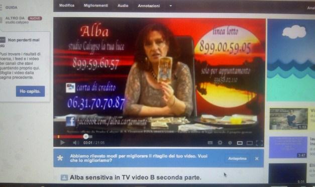 Alba Sensitiva in TV – video A seconda parte