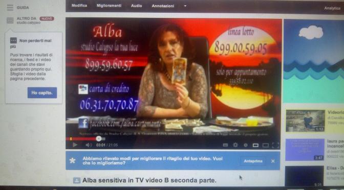 Alba Sensitiva in TV – video B prima parte