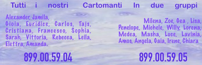 I nostri cartomanti