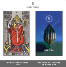RWS Tarot | Tarot of Creativity compared