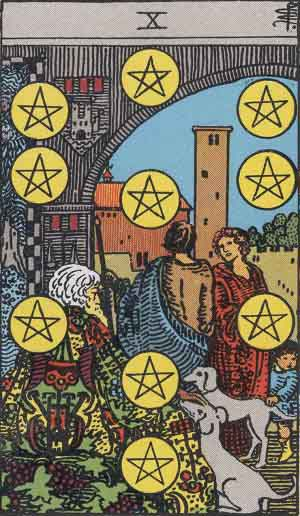 Ten of Pentacles Tarot card