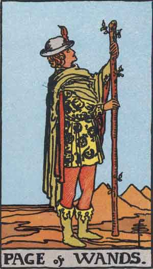 Page of Wands Tarot card