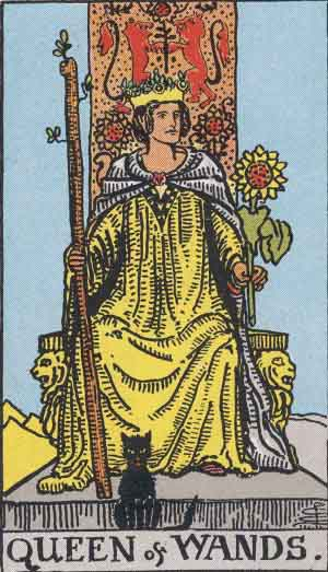 The Queen of Wands Tarot card