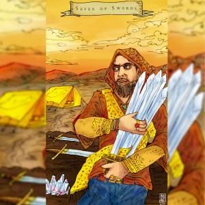 7 Of swords, Emilie's Kindred Spirits Tarot, Angel Greo