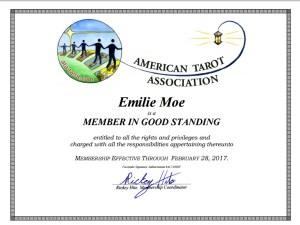 American Tarot Association Emilie Moe