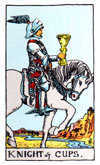 Tarot Minor Arcana card: Knight of Cups