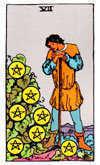 Tarot Minor Arcana card: Seven of Pentacles