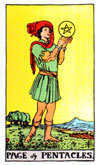 Tarot Minor Arcana card: Page of Pentacles