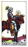 Tarot Minor Arcana card: Knight of Pentacles