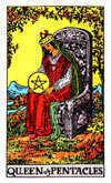 Tarot Minor Arcana card: Queen of Pentacles