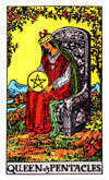 Tarot Minor Arcana card: Queen of Pentacles
