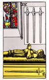 Tarot Minor Arcana card: Four of Swords