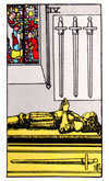 Tarot Minor Arcana card: Four of Swords
