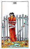 Tarot Minor Arcana card: Eight of Swords