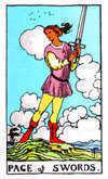 Tarot Minor Arcana card: Page of Swords