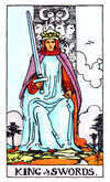 Tarot Minor Arcana card: King of Swords