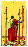 Tarot Minor Arcana card: Three of Wands