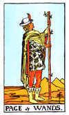 Tarot Minor Arcana card: Page of Wands