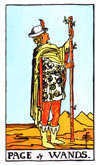 Tarot Minor Arcana card: Page of Wands