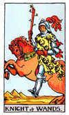 Tarot Minor Arcana card: Knight of Wands