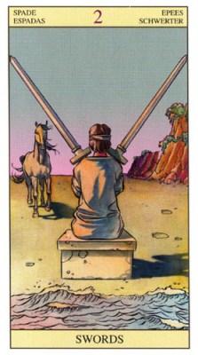 2 of Swords - New Vision Tarot Deck