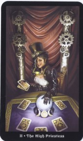 2 Major - The High Priestess - Steampunk Tarot
