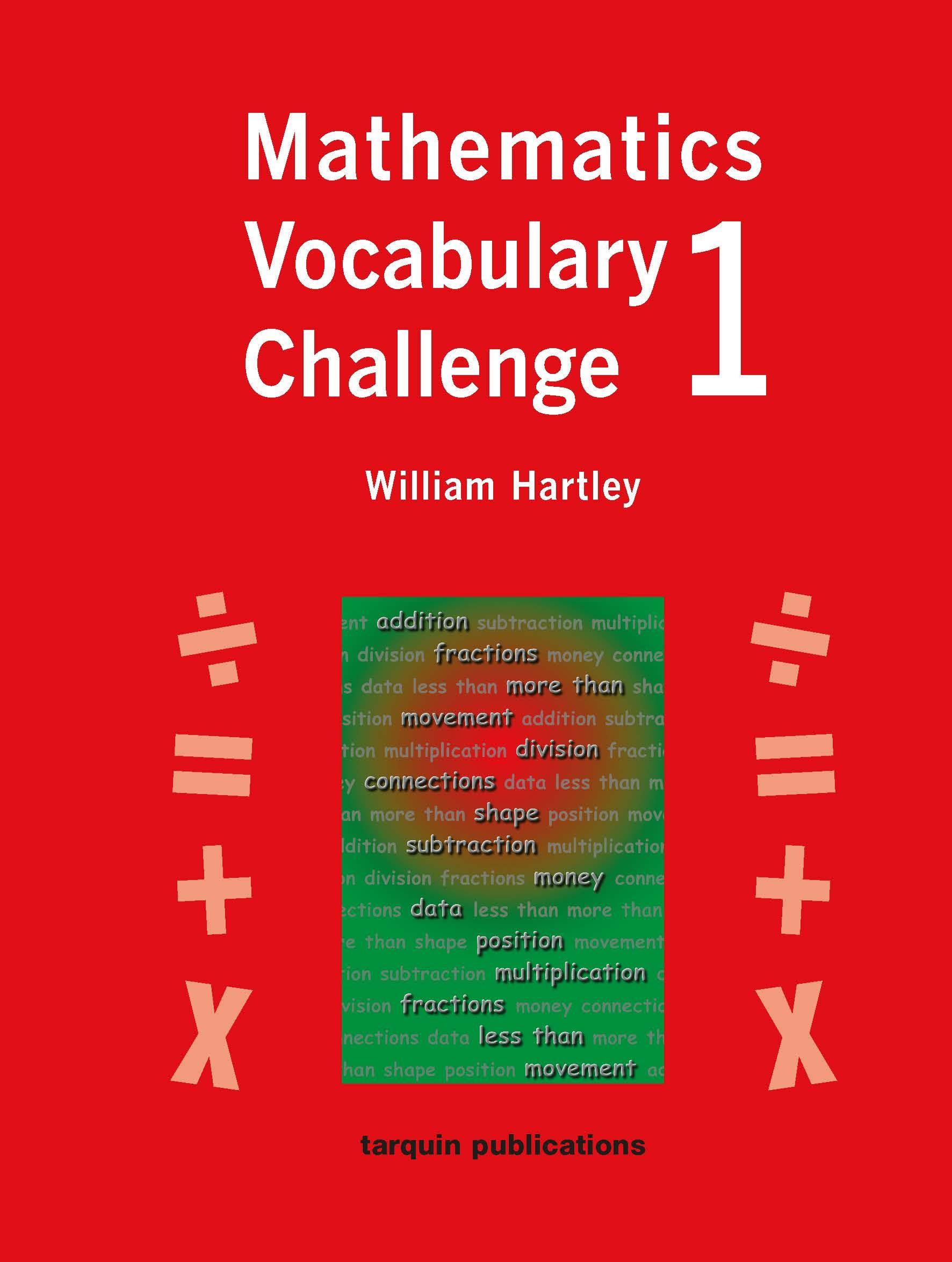 Mathematics Vocabulary Challenge One 36 Photocopiable