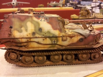 Nicely weathered German Tank