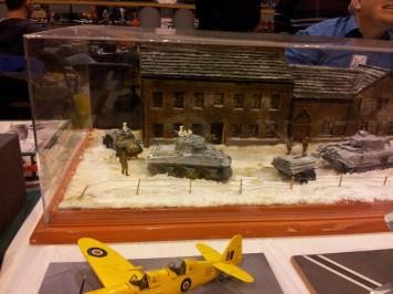 Winter tank diorama