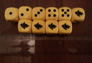 space wolves yellow dice