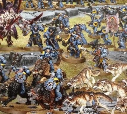 New Space Wolf Thuderwolf Calvary, Fenresian Wolves and Arjac