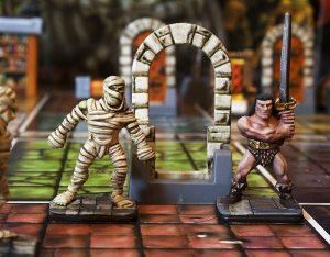 Barbarian fights mummies