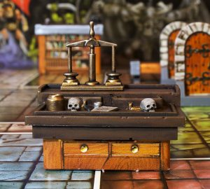 The desk from heroquest
