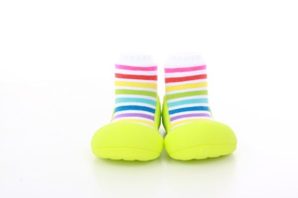 Meia/Sapato ATTIPAS - rainbow-green008- Tartaruguita