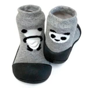 Meia/Sapato ATTIPAS com tecido duplo - Pet - Panda- Tartaruguita