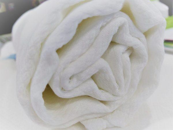 Fralda/ Musselina de Algodão Branca Tartaruguita