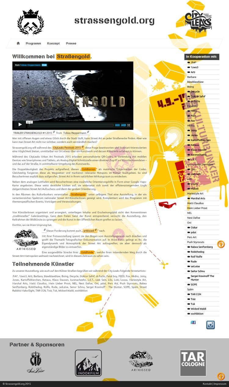 Strassengold - Frontpage