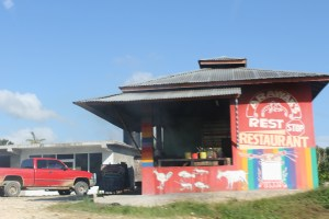 Picures from the car: Managed to get a good photo of this cook shop.  I wonder how the food is there.