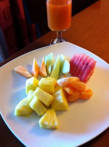 Day 3 breakfast. How fruit can be so mediocre on an island filled with amazing indigenous produce is amazing to me.