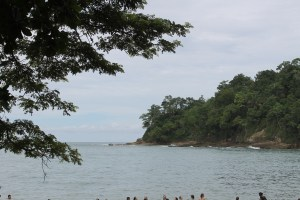 The beach at Manuel Antonio. Also known as beach #1