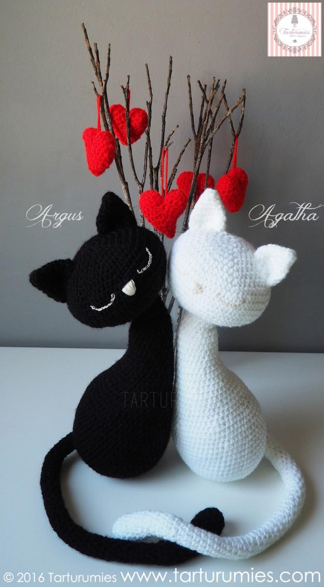 Gatitos San Valentín Agatha y Argus Tarturumies